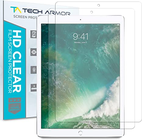 2015 and 2017 2-Pack Tech Armor Anti-Glare//Anti-Fingerprint Film Screen Protector for Apple iPad Pro 12.9-inch