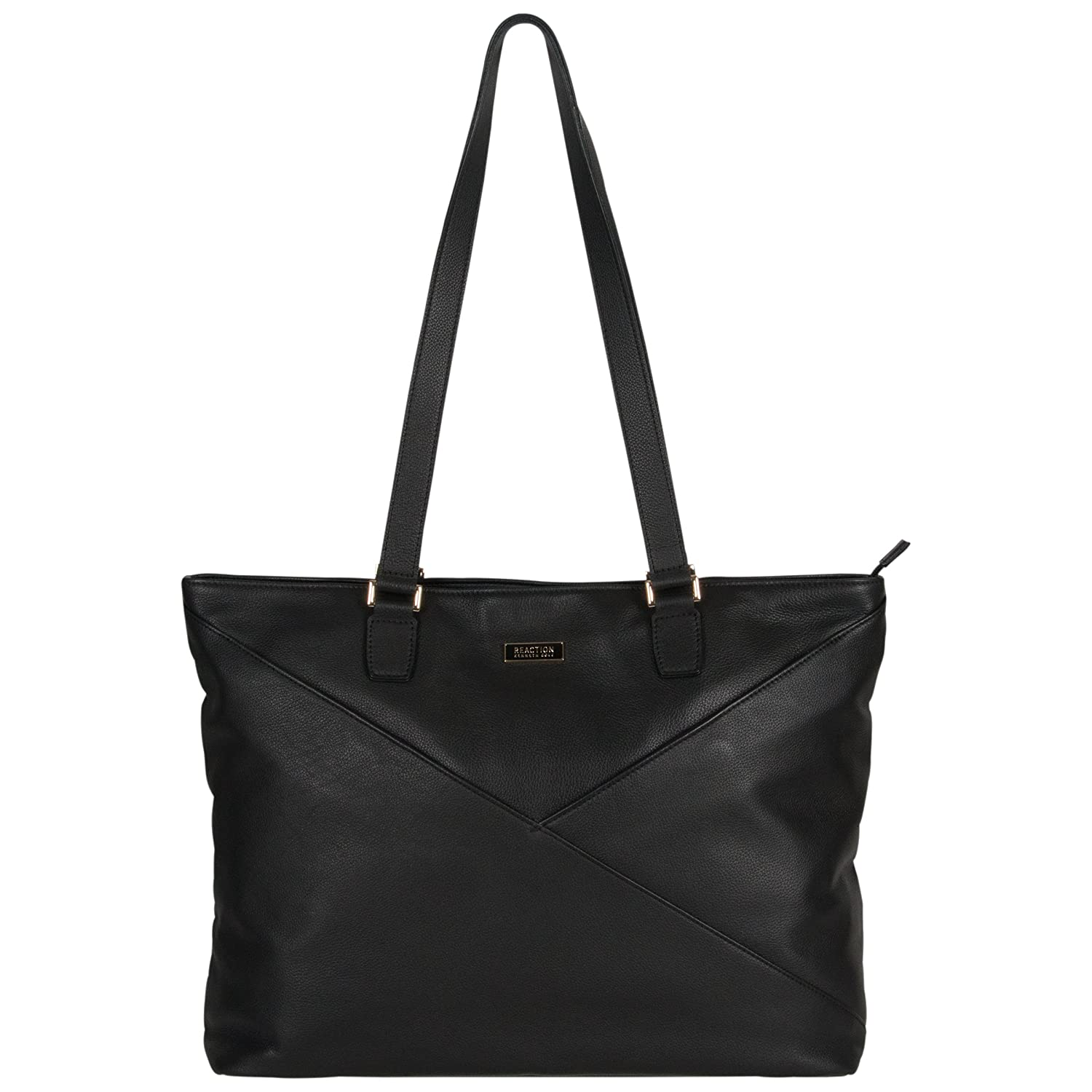 Kenneth Cole Reaction Women's Leather Top Zip 15 Computer Business (Rfid) Laptop Tote, Black, One Size Heritage-Kenneth Cole Luggage 51755