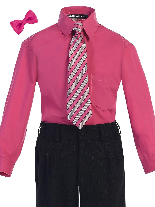 Amazon Bello Giovane Boys Fuchsia Dress Shirt With Tie Set