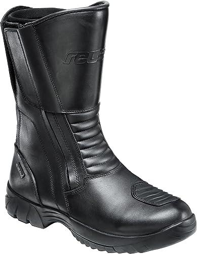 Schwarz doppelter Rei/ßverschluss gepolsterte Komfortzonen 40-46 Reusch Motorradschuhe Motorradstiefel lang Touren Leder Stiefel 2.0 lang 2,2-2,4 mm Starkes Rindleder Waden-Weitenverstellung