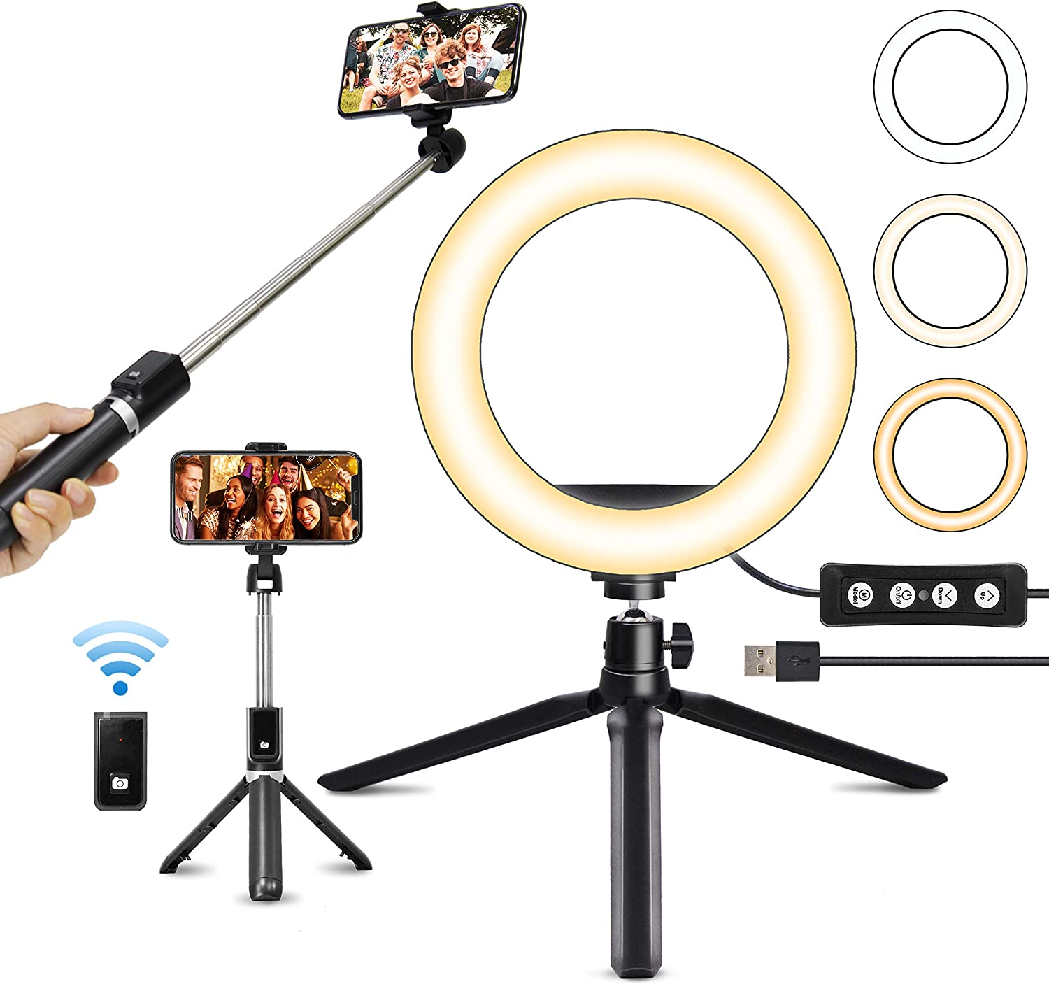 Ring Light with Selfie Tripod