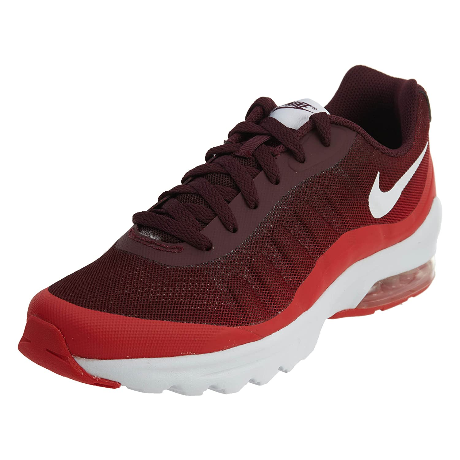 NIKE Men's Air Max Invigor Print Running Shoes B01IODME0I 7.5 D(M) US|Night Maroon/White/Action Red