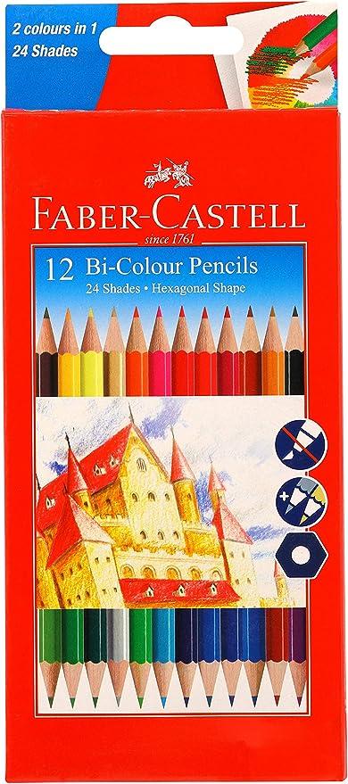 Faber Castell bicolor, 24 Shades – Pack de 12: Amazon.es: Juguetes ...