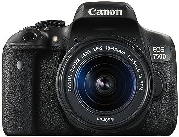 3f51093b2be87 Canon EOS 750D - Appareil Photo Numérique Réflex 24 MP + Objectif 18-55mm +