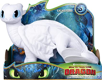 """How to Train Your Dragon Light Fury Plush Teddy The Hidden World Soft Toy 10/"""""""