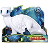 DreamWorks Dragons Lightfury, 14-inch Deluxe Plush Dragon, for Kids Aged 4 and Up