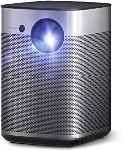 Xgimi Halo True 800 ANSI Portable Mini Projector, Movie Projector Android TV 9.0 5000+ Native Apps, Harman / Kardon Speaker, 1080p, Outdoor Projector with WiFi Bluetooth