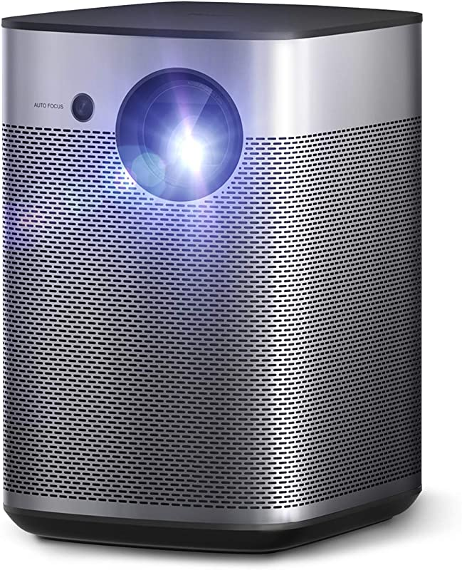 Xgimi Halo True 1080p Full HD Portable Mini Projector Android TV 9.0 5000+ Native apps, Harman/Kardon Speakers, 800 ANSI Lumen, Outdoor Projector WiFi Bluetooth Watch Anywhere