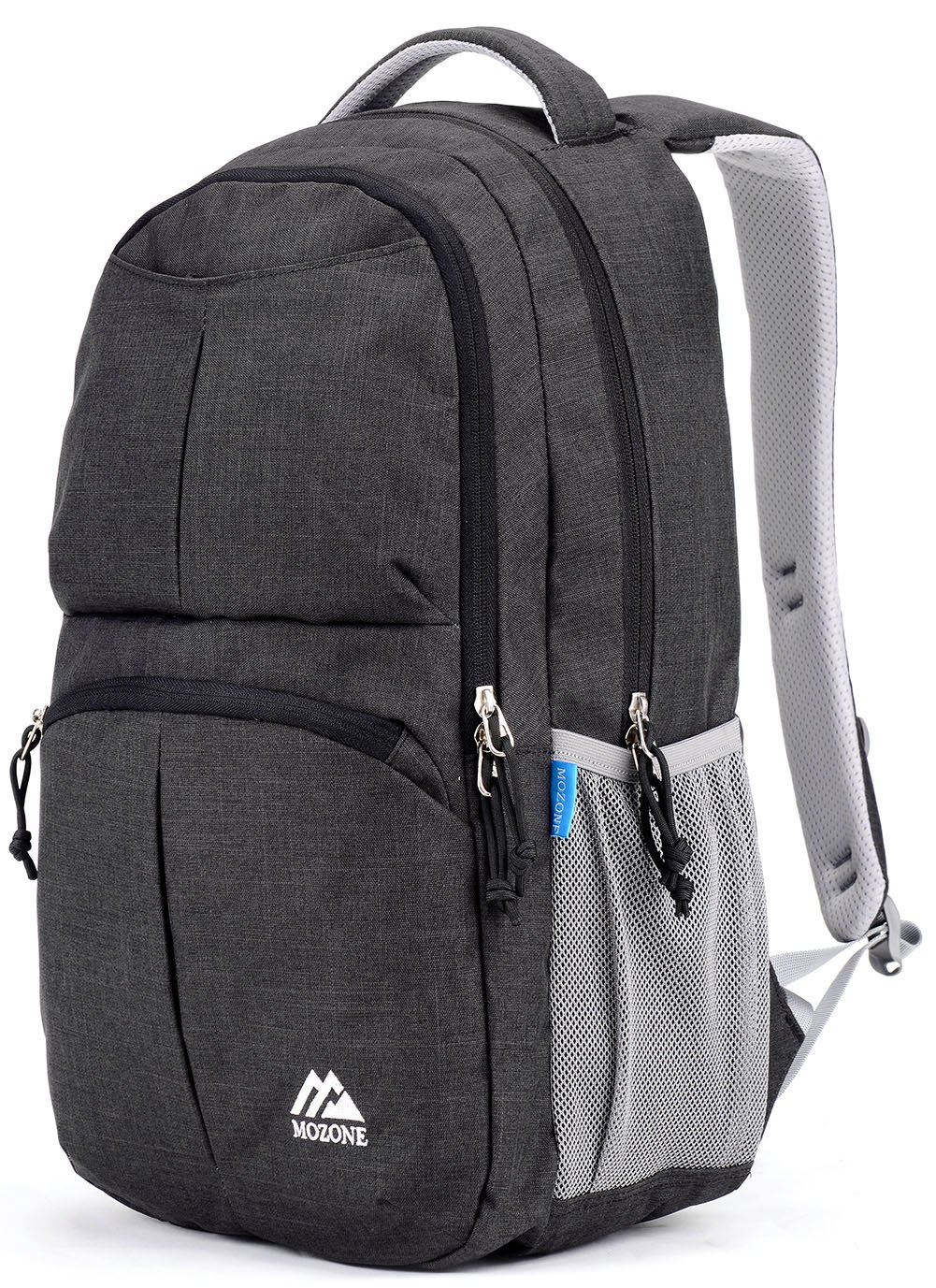 Mozone Large Lightweight Water Resistant College School Laptop Backpack Travel Bag Grey M4011L-Grey