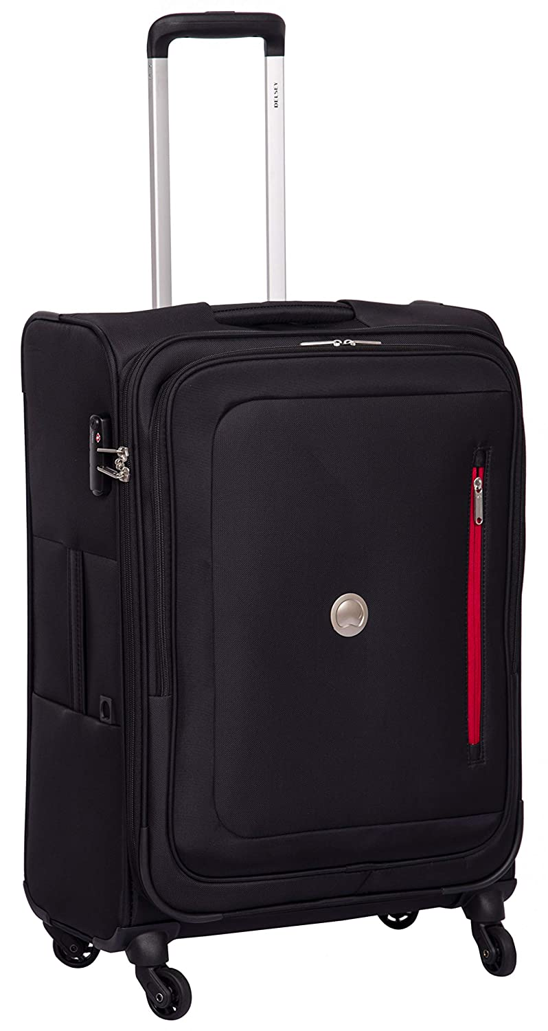 Delsey Oural Polyester 68 Cm 4 Wheels Black Medium Soft Suitcase
