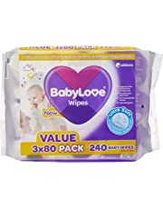 BabyLove Ultra Soft Baby Wipes Value Pack (3 x 80-Pack  = 240 total)