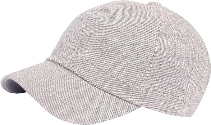 B409 Empty Plain Ball Cap Fashion Short Bill Design Cotton Baseball Hat Truckers