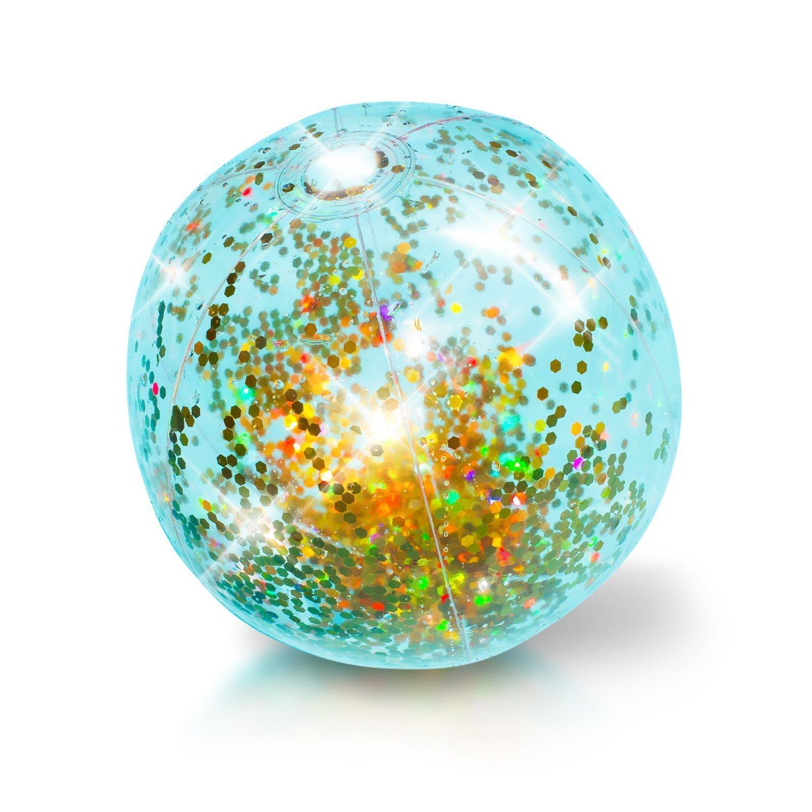 Pool Candy Glitter Inflatable 13.75 Jumbo Beach Ball - Gold