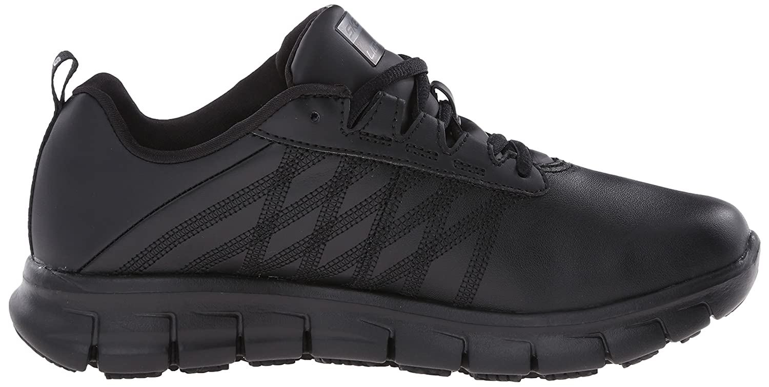 Skechers for Work Women's Sure Track Erath Athletic Lace Slip Resistant Boot B01AWUUFVQ 6 W US|Black