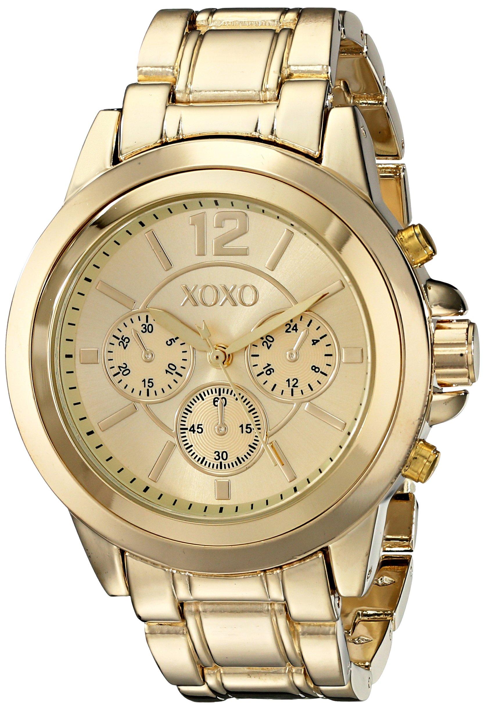 Xoxo women 39 s xo5589 gold tone bracelet watch ebay for Watches xoxo