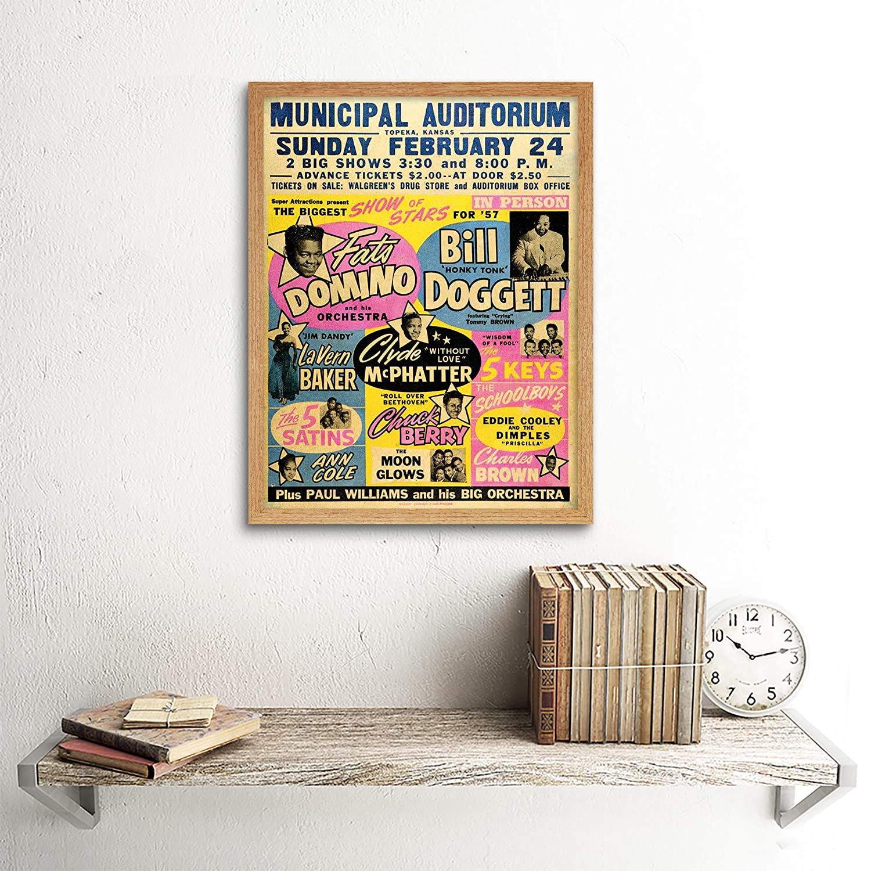 Wee Blue Coo Music Concert Advert Fats Domino Chuck Berry USA Unframed Wall Art Print Poster Home Decor Premium