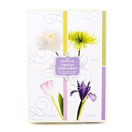Amazon assorted sympathy greeting cards hallmark flowers 12 assorted sympathy greeting cards hallmark flowers 12 cards and envelopes m4hsunfo