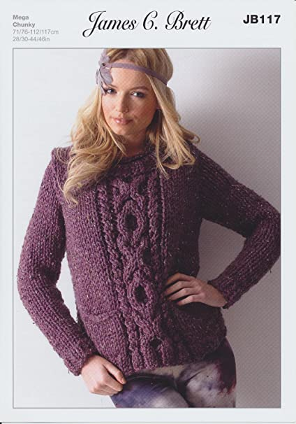 Amazon James Brett Mega Chunky Knitting Pattern Ladies Thick