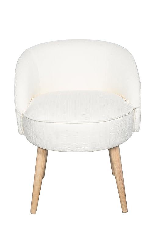 Kleiner Hocker Sessel Stuhl Mit Lehne Creme Weiß *487 Ideas