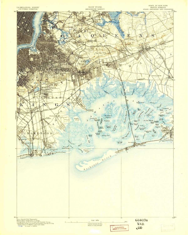 Amazon Com Yellowmaps Brooklyn Ny Topo Map 1 62500 Scale 15 X 15