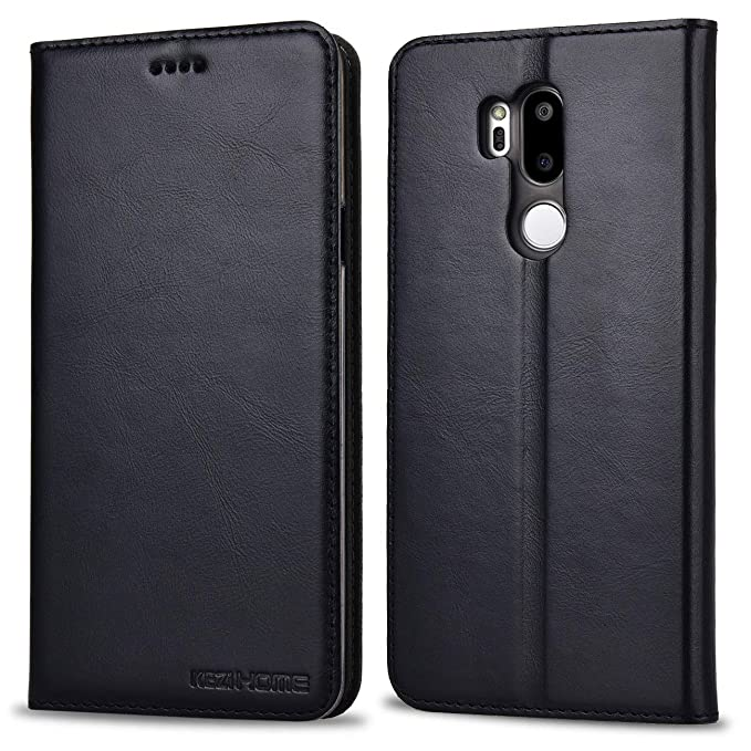 big sale 775ff bc80f LG G7 ThinQ Case, LG G7 Case, KEZiHOME Genuine Leather Premium LG G7 Wallet  Case with Stand Feature and Credit Card Slot Full Protection Case for LG ...