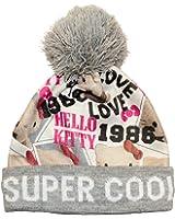Girls Hello Kitty Grey Beanie Bobble Hat Hello Kitty Print Design Age 3-6 Years