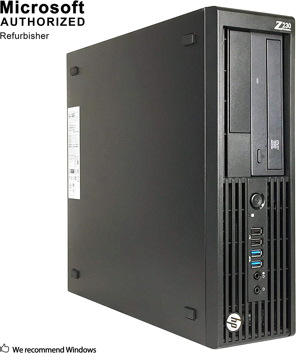 HP Workstation Z230 Small Form Factor PC, Intel Quad Core i7-4790 up to 4.0GHz, 16G DDR3, 1T, WiFi, BT 4.0, DVD, Windows 10 64 Bit-Multi-Language Supports English/Spanish/French(Renewed)