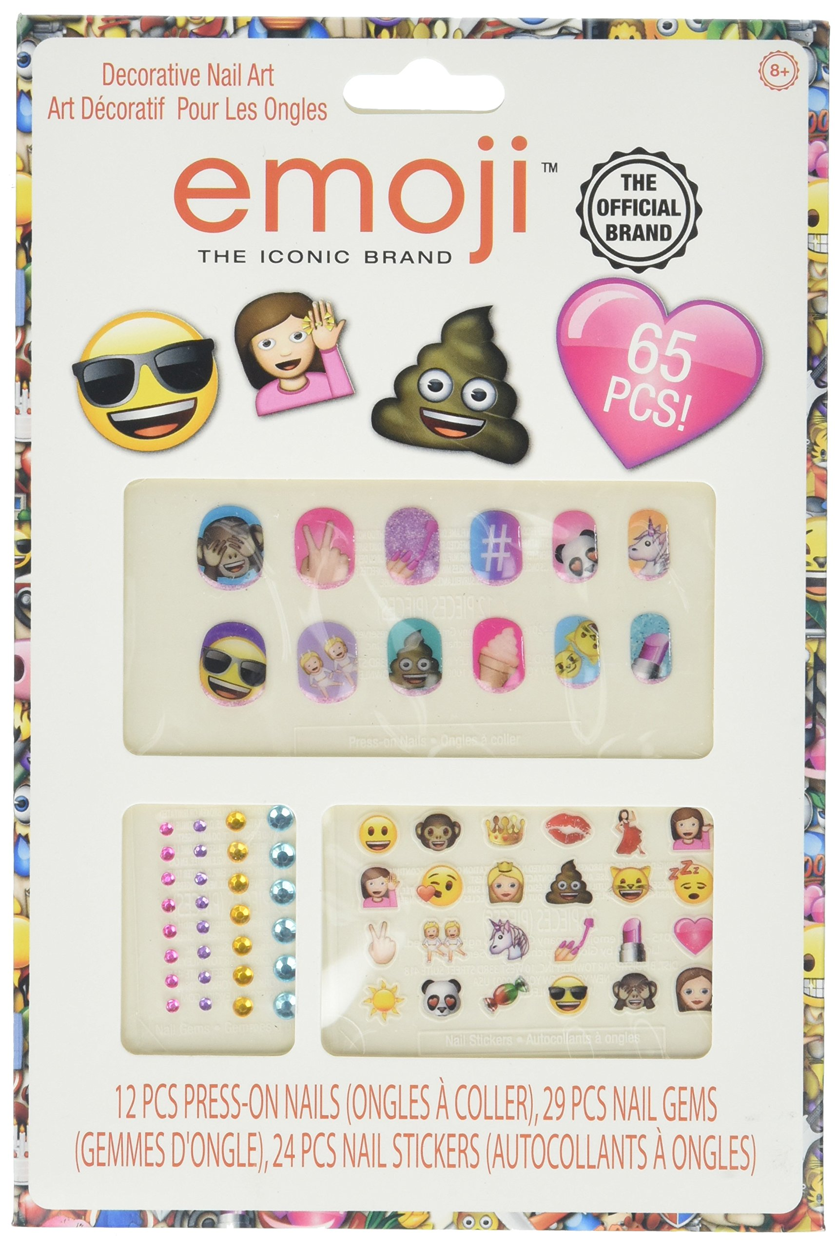 Amazon.com: NPW-USA Get Emojinal Nail Art Sticker Decals