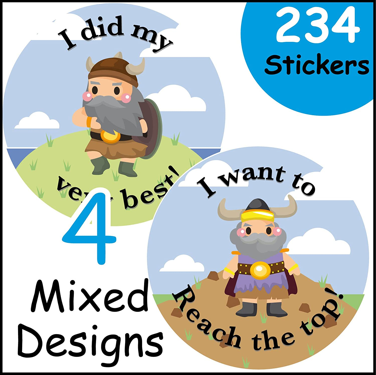 234 The Sticker Factory-Adesivi di ricompensa, tema: Viking EzStickers