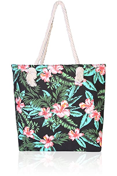 869c22d50d95 Basico Beach Tote Bag with Rope Handles