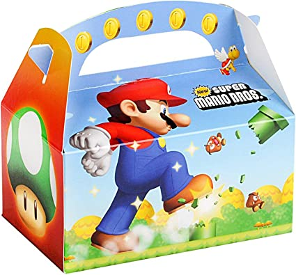 Amazon.com: Super Mario Bros. aspiradora Favor cajas (4 ...
