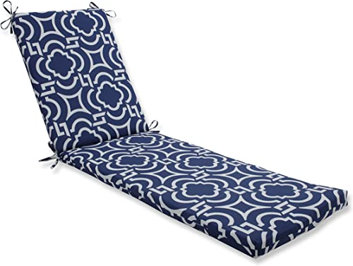 Pillow Perfect Outdoor Indoor Carmody Navy Chaise Lounge Cushion, 80 x 23 , Blue