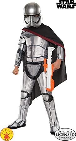 Rubies 's–Disfraz de oficial de Disney Star Wars Super Deluxe capitán Phasma, niño–grande