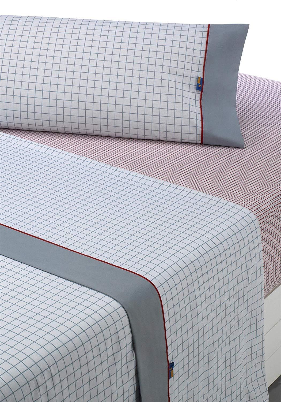Sabanalia - Juego de sábanas estampadas Checks (disponible en varios tamaños y colores),