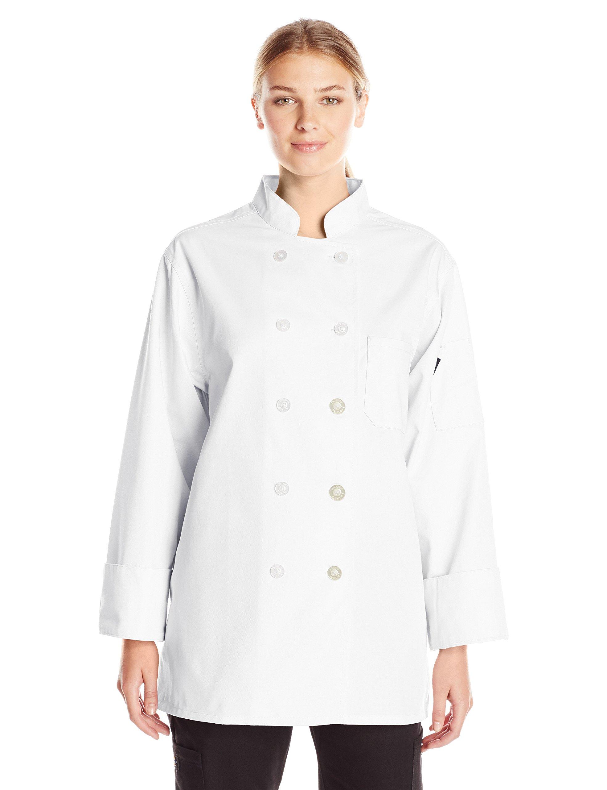 Dickies Chef Women's Classic Coat, White, Medium