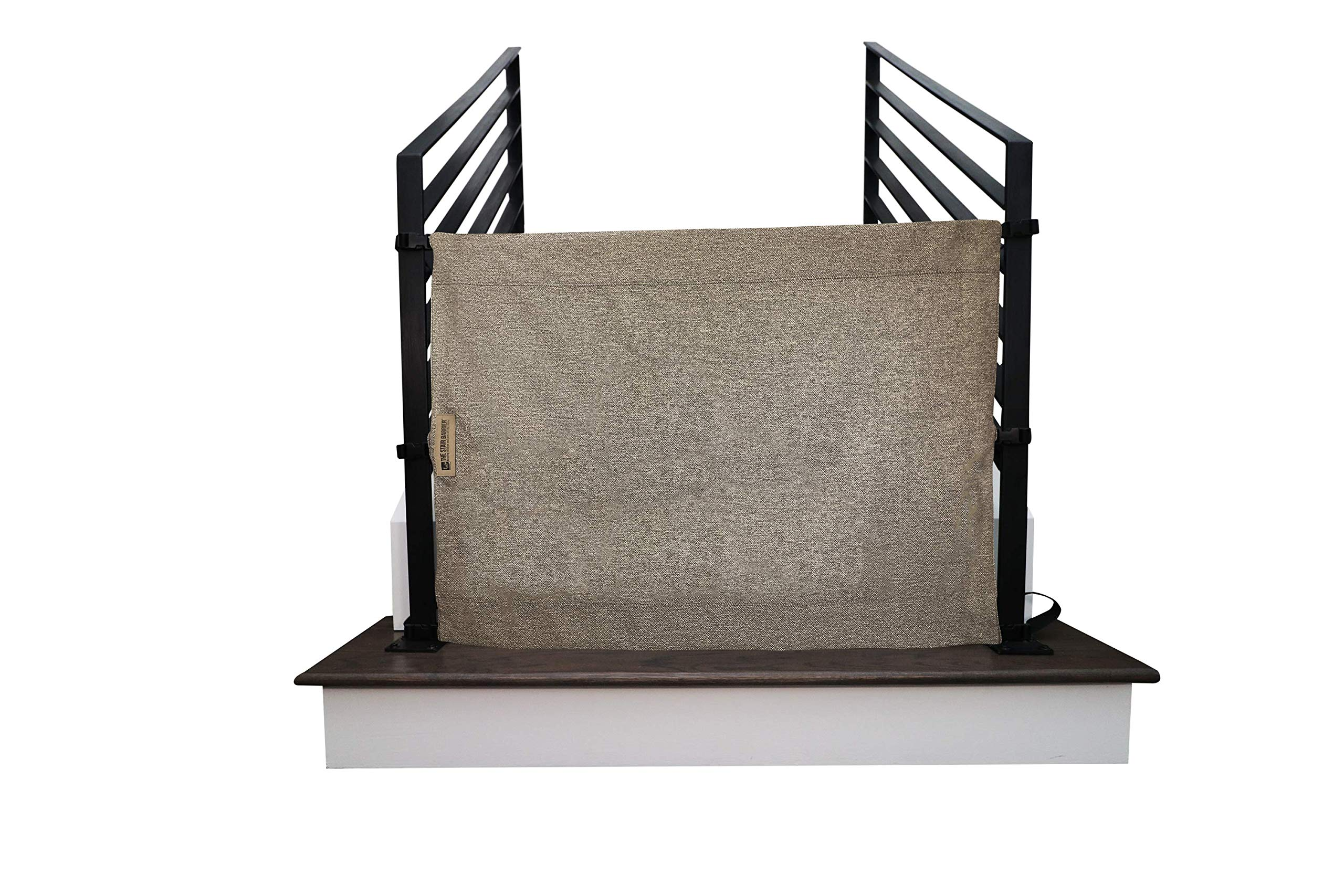 The Stair Barrier Baby and Pet Gate: Banister-to-Banister Fabric Safety Gate - Made in The USA, New 2019