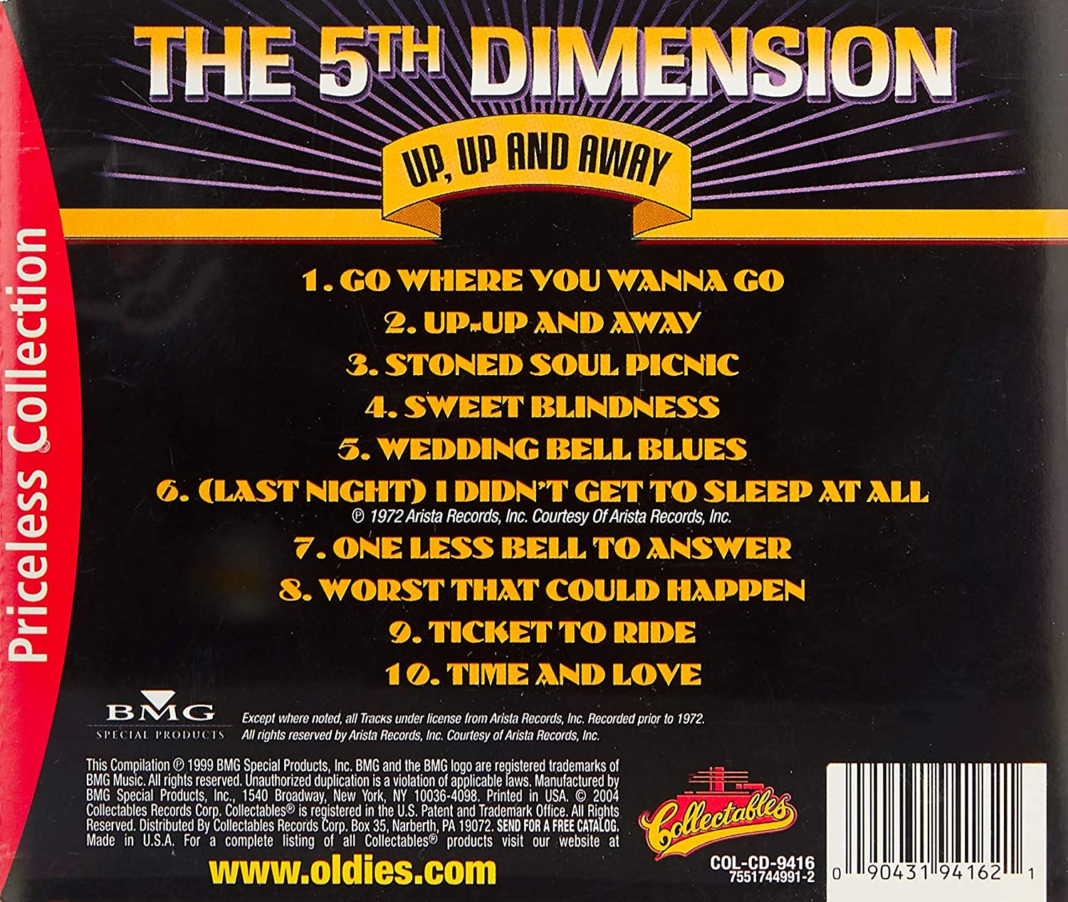 Details about Up Up and Away The 5th Dimension Vinyl LP Soul