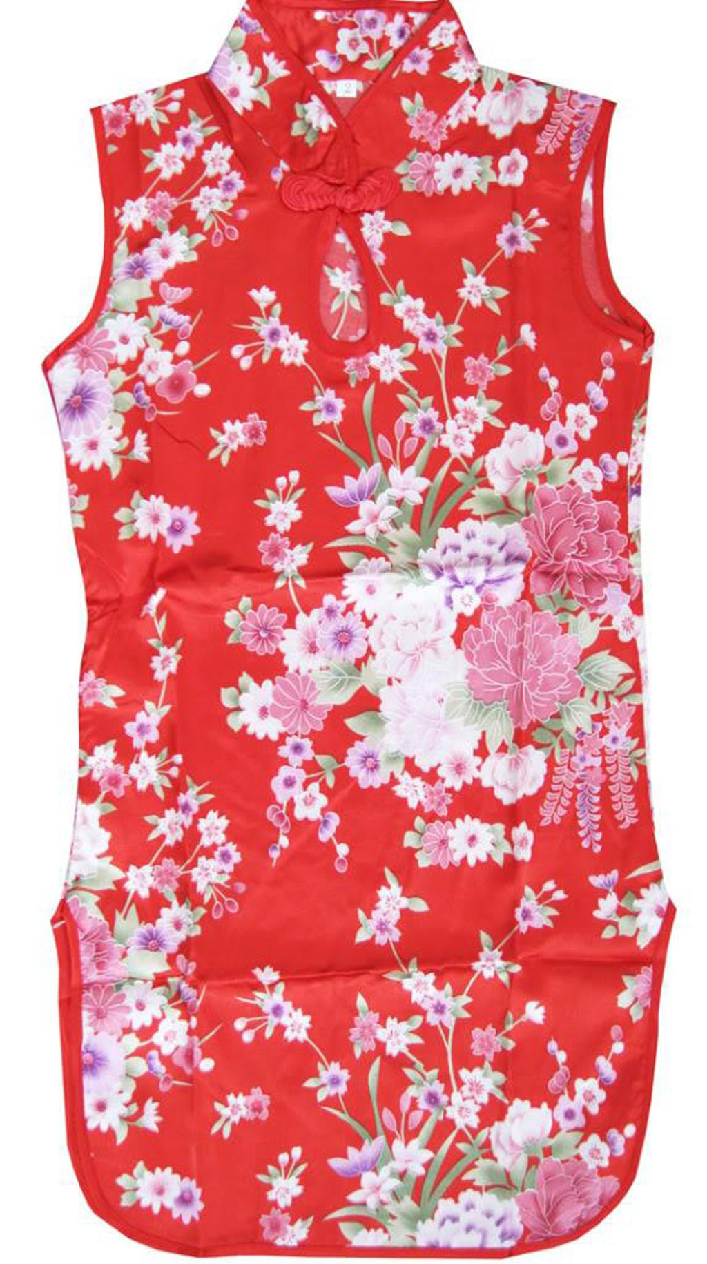 Sunny Fashion Girls Dress Artificial Silk Cheongsam Hot Pink Size 12-18m