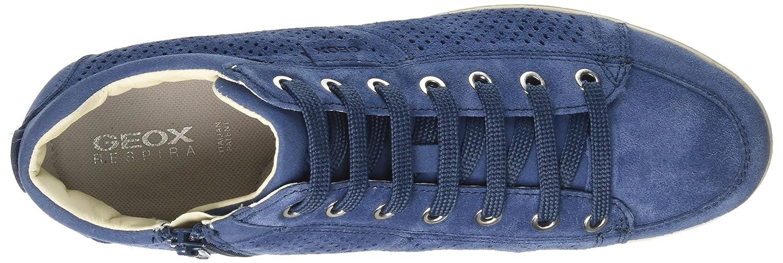 Geox B Damen D Myria B Geox Hohe Sneaker Blau (Denim) aeab6b