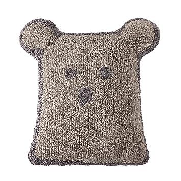 Amazon.com: Cojín de oso lino – gris oscuro: Baby