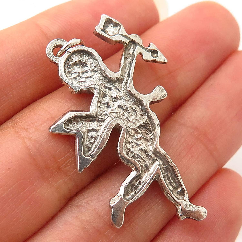 925 Sterling Silver Vintage Cupid Angel Design Charm Pendant from D/&J