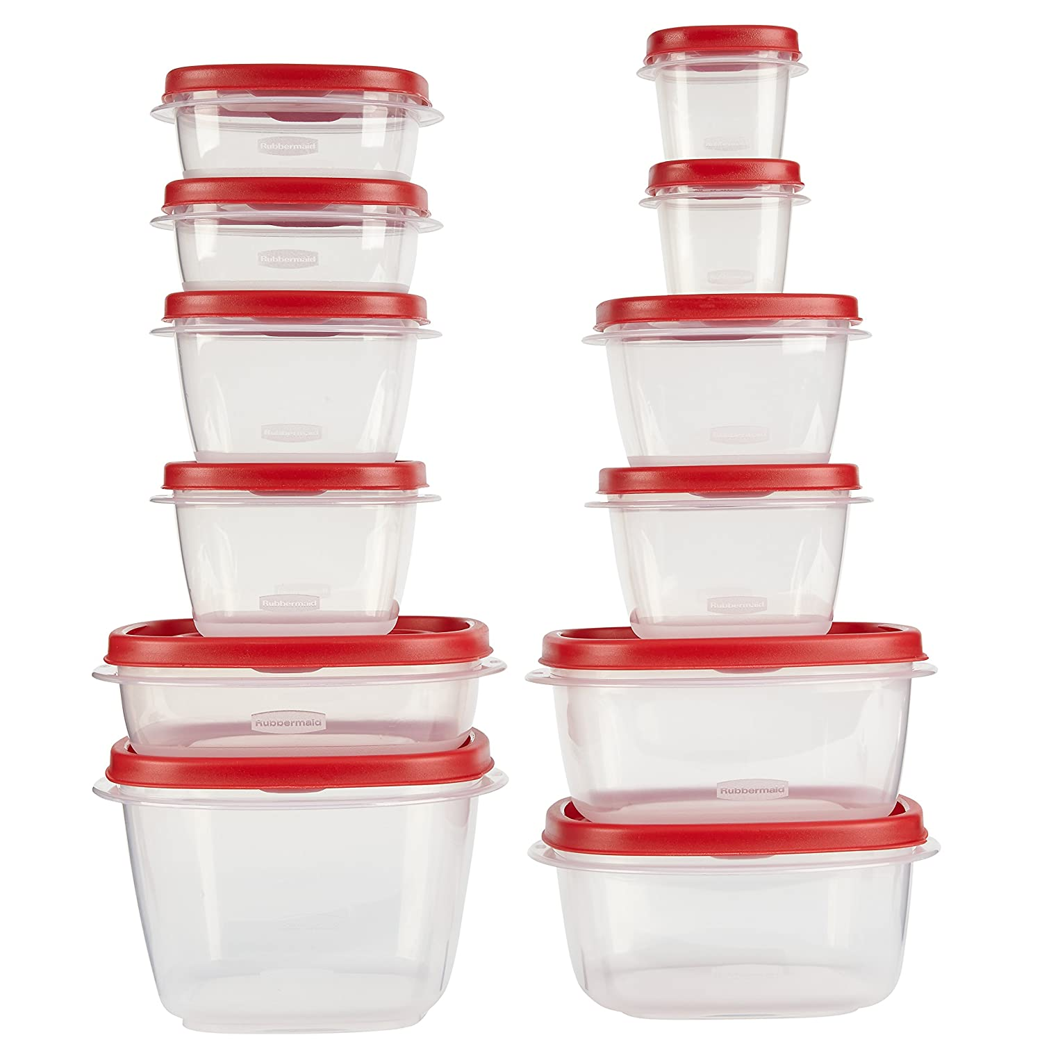 Amazon.com Rubbermaid Easy Find Lids Food Storage Containers Racer Red Set of 24 7J98 Kitchen Storage And Organization Products Kitchen u0026 Dining  sc 1 st  Amazon.com & Amazon.com: Rubbermaid Easy Find Lids Food Storage Containers Racer ...