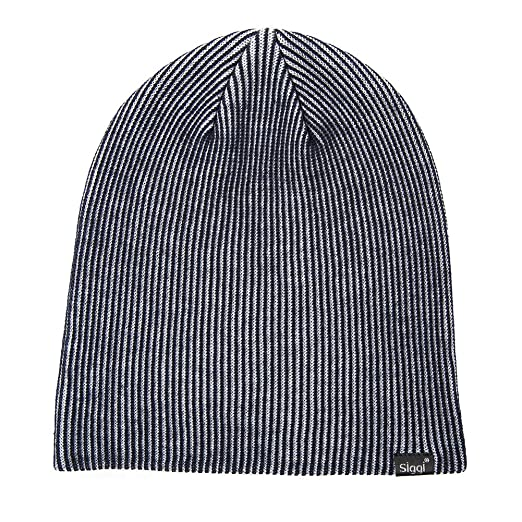 SIGGI Unisex Mens Womens Knit Baggy Beanies Slouch Winter Watch Cap Wool  Navy 374d2d4bbfac