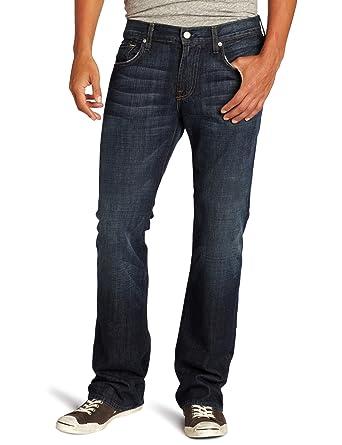 1617ae7d Amazon.com: 7 For All Mankind Men's Brett Long Inseam Modern-Bootcut Jean  in New York Dark, New York Dark, 31x36: Clothing