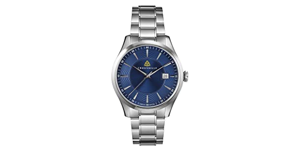 ae462c850 comTrouvaille Watches Classic Index Blue Dial - Swiss Made Automatic Watch  with Stainless Steel Bracelet | Amazon