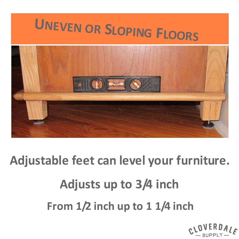 furniture feet threaded adapters