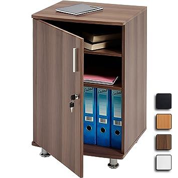 Storage Cabinet Cupboard and Desktop Extension to in Dark Walnut