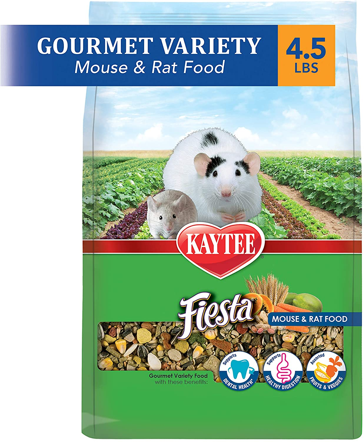 Kaytee Fiesta Mouse And Rat Food, 4.5-Lb Bag