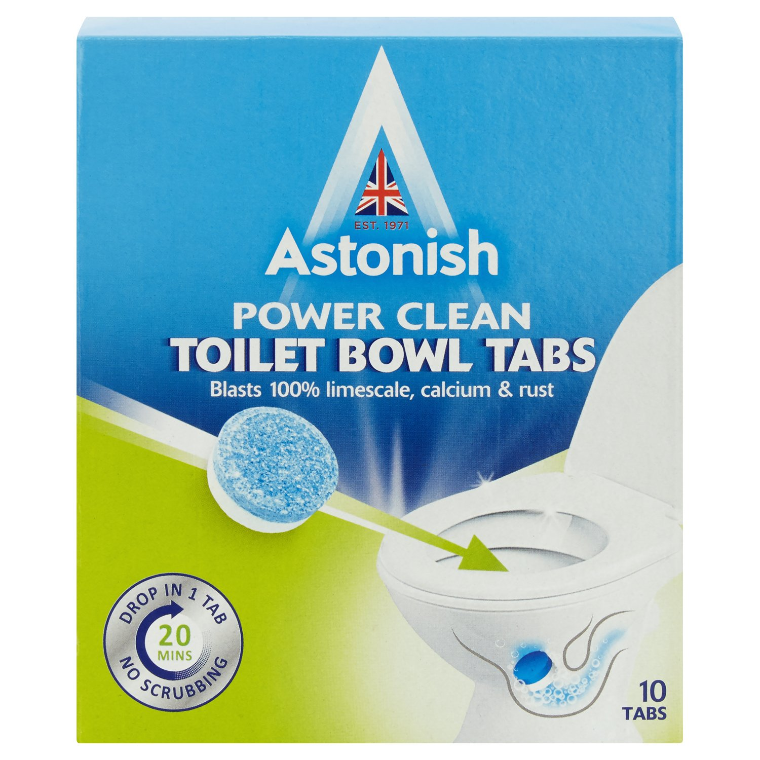Astonish Toilet Bowl Cleaner Removes Limescale Remover Limescale Cleaner 10 Tabs AX-AY-ABHI-123888
