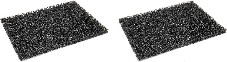 vhbw 2x Filtro para pelusas, filtro de espuma para varias secadoras de ropa de AEG, electrolux
